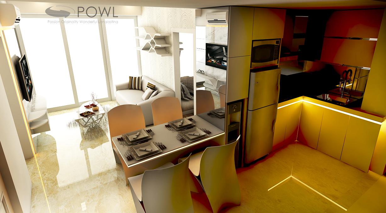 Paket interior apartemen 2 kamar landmark residence bandung for Design apartemen 2 kamar