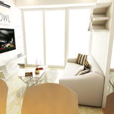 harga interior apartemen 2 kamar landmark residence