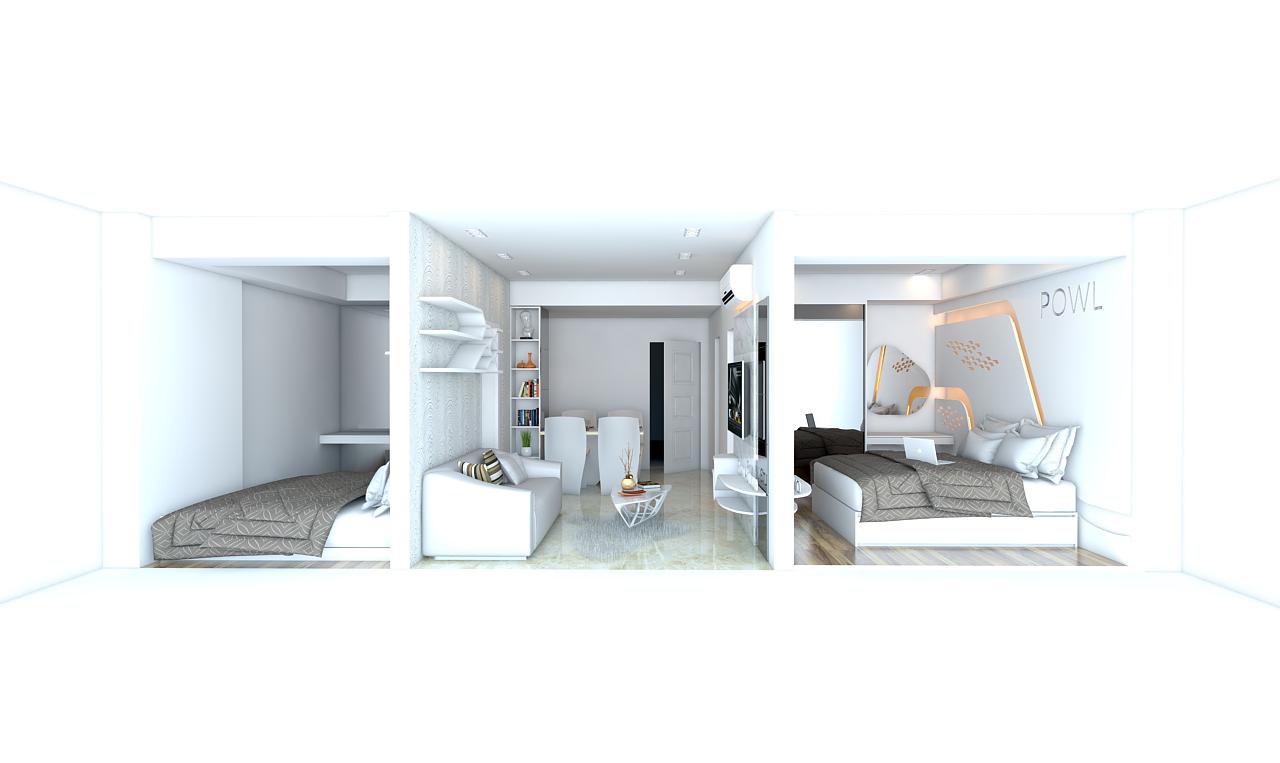 paket interior apartemen 2 kamar