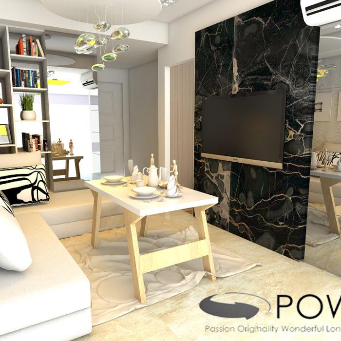 paket interior apartemen living room
