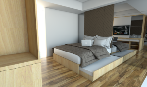 contoh Penggunaan Furniture Serba Guna Apartemen 1 Kamar