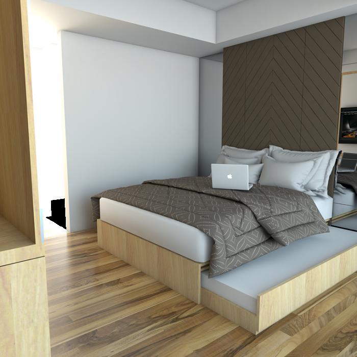 Paket apartemen tipe studio, Jual Paket Interior Apartment Type Studio