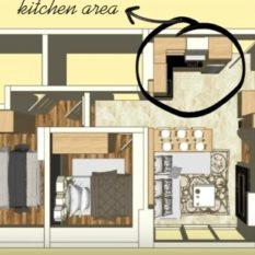 denah paket interior 3 bedroom