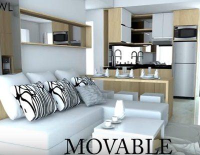 paket interior apartemen landmark residence 3 kamar