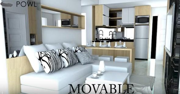 Paket interior apartemen landmark residence 3 kamar for Design interior apartemen 1 bedroom