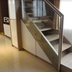desain apartemen mungil 2 lantai