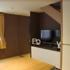 interior apartemen loft multifungsi 2 lantai