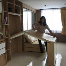 interior desain apartemen mewah dengan furniture multi fungsi