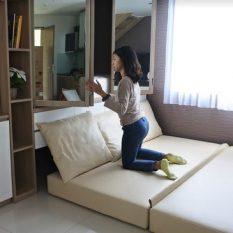 interior design apartemen multifungsi tipe studio minimalis