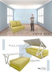 Sofa bed multifungsi kreasi unik untuk apartemen minimalis