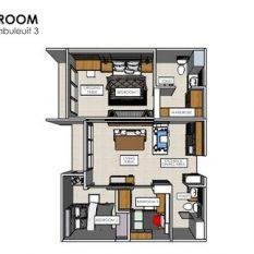 denah apartemen ciumbuleuit 3 tiga kamar