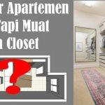 Contoh Peletakan Furniture Interior Apartemen Type Studio 15 m2