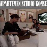 Interior Apartemen Studio Konsep Lesehan