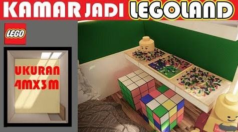 Interior design of a 3x4 bedroom LEGO concept