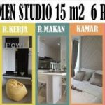 Interior of studio type apartment 15 m2