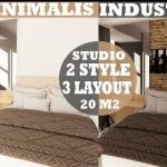 Interior Design Studio Type Apartemen 20 m2 Minimalis and Indutrial Style