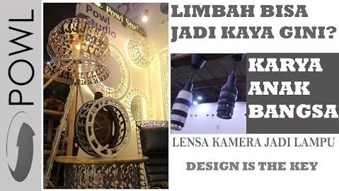 desain furniture unik dari limbah karya anak bangsa