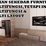 Desain Interior Apartemen type Studio dengan layout flexible