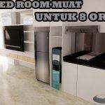 Interior desain apartemen minimalis 1 Bed Room Multifungsi